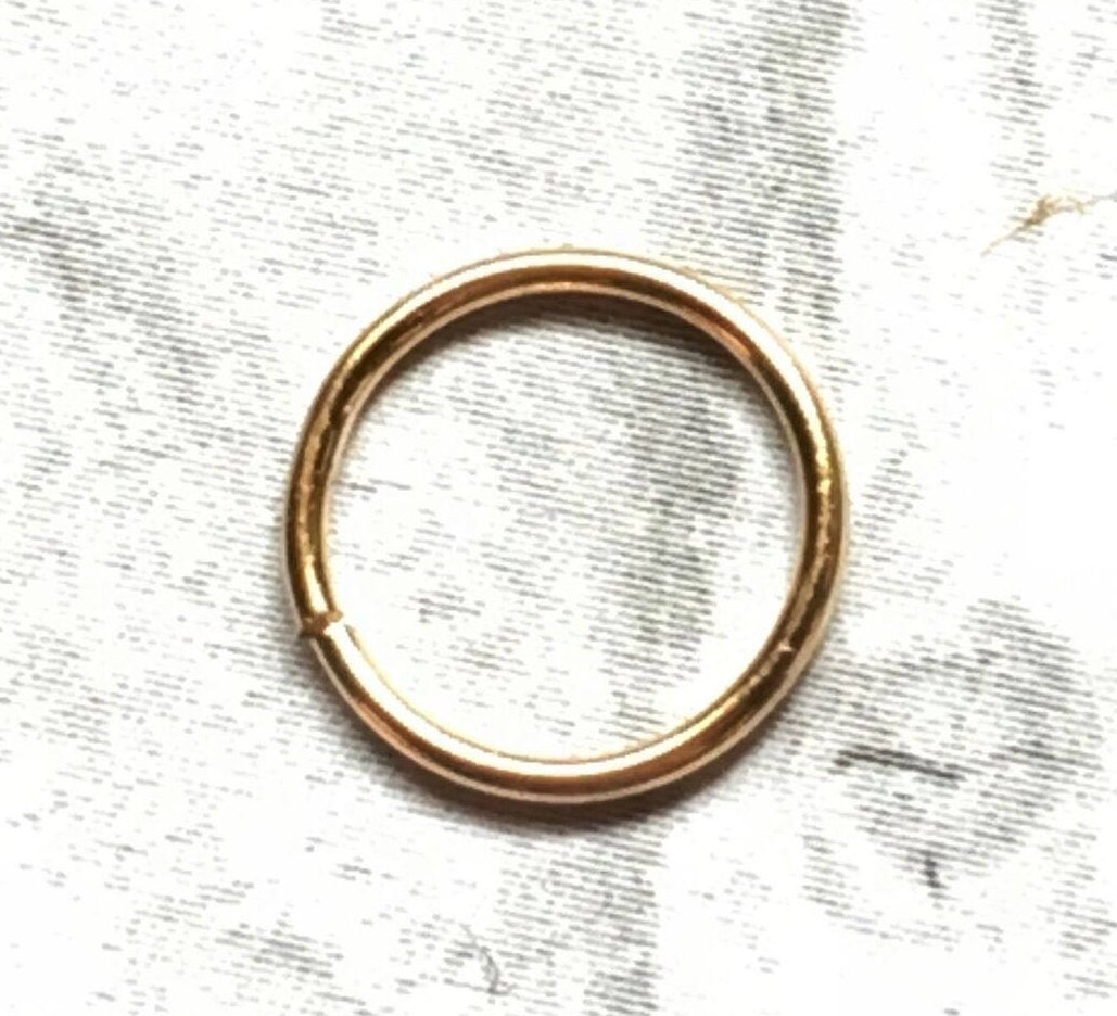 Pure 24k Gold Nose Ring Hoop 20g 22g Cartilage Earring Etsy