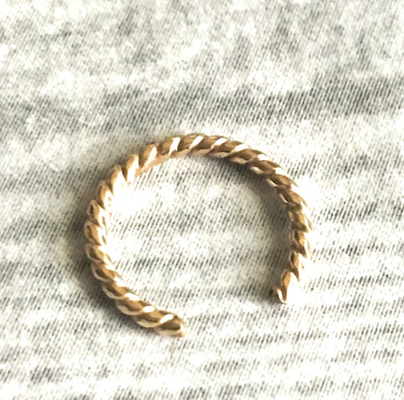 Twisted Wire Design | Solid 14k Gold Open Nose Ring Twisted Wire Design 12g 14g Etsy
