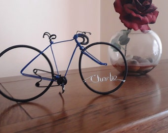 Gifts for cyclists, Wire Bicycle Racer, Cake Topper, Birthday gift and Christmas gifts for Cyclists.