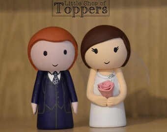 Wedding Cake Topper - Bride & Groom