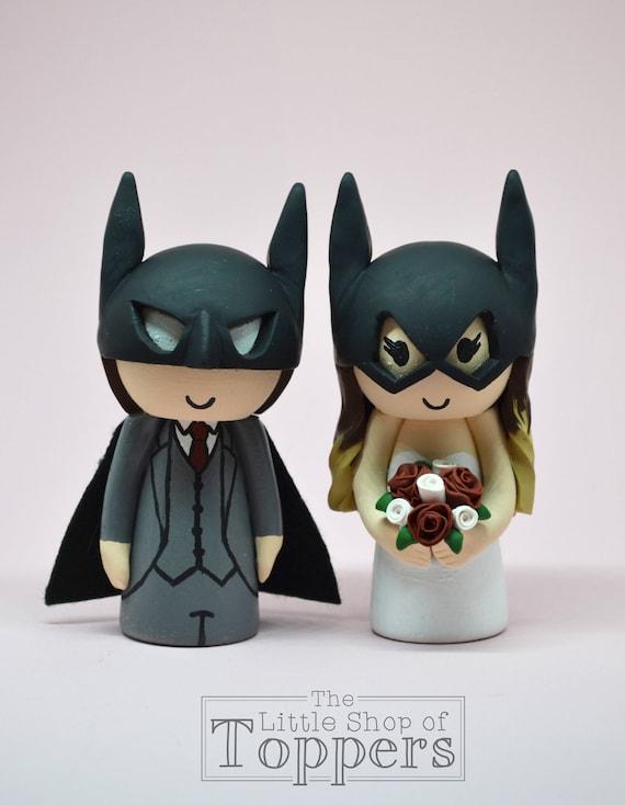 Wedding Cake Topper Superhero Bride Groom Etsy