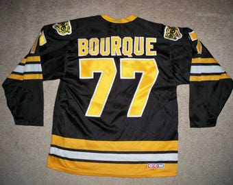 5f12a929a Vintage Ray Bourque Boston Bruins Captain NHL CCM Hockey Jersey Uniform  Size Medium Made in Canada