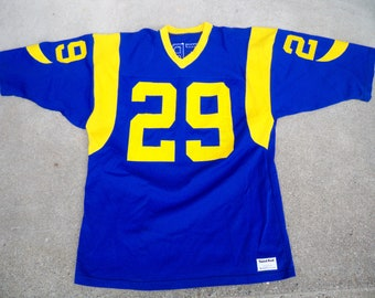 145811f2894 Vintage Eric Dickerson Sand-Knit LA Los Angeles Rams Football Uniform Jersey  Size XL Made in USA
