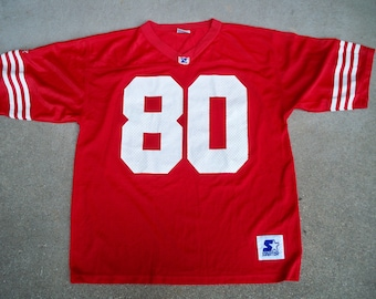 1790c2d99 Vintage Starter Jerry Rice 80 San Francisco NFL Football Jersey Uniform  Size Large Made in Korea