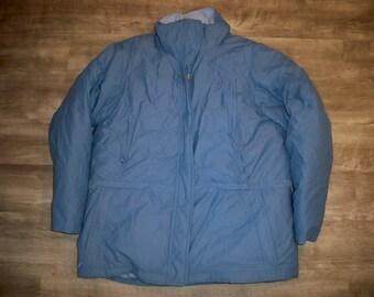 cde35d8d2f508 Vintage LL Bean Goose Down Baby Blue Gore-Tex Coat Jacket Parka Women's  Size XL Regular