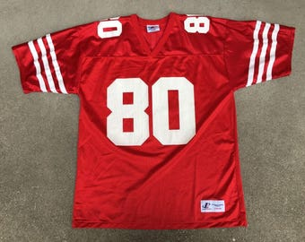 Vintage Logo Athletic Jerry Rice 80 San Francisco NFL Football Jersey  Uniform Size Large 46-48 268795ab2