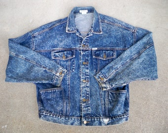 Guess Denim Jacket Etsy