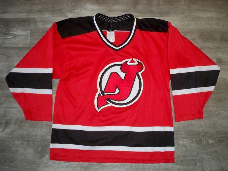 e39595c887d Vintage CCM New Jersey Devils NHL Hockey Stitched Jersey | Etsy