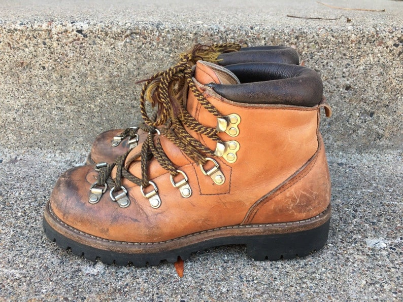 9f104971068ef Vintage Red Wing Irish Setter Mountaineering Hiking Stomper Backpacking  Trail Camping Brown Leather Men's Boots Made in USA Size 6