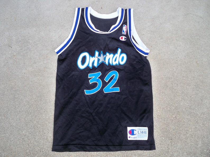 898257582 Vintage Champion Orlando Magic Shaquille O Neal 32 NBA