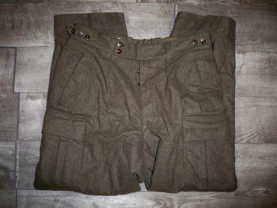 Vintage Vietnam War M1951 Mohair Field Liner US Army Field Pants Trousers Size Long Medium