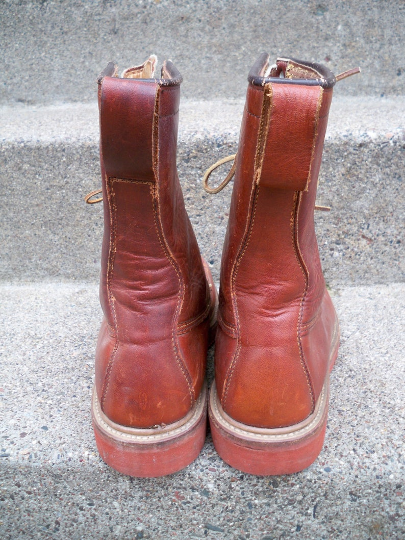 Vintage John C Roberts Leather Sport Birding Hunting Chore Work Wear Men/'s Boots Size 8.5 Made in USA
