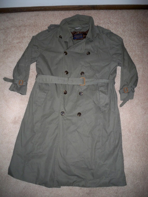 University Club 44 Size Men's RALPH Breasted Overcoat Double Trench Vintage Polo LAUREN Coat CwZSBtBq