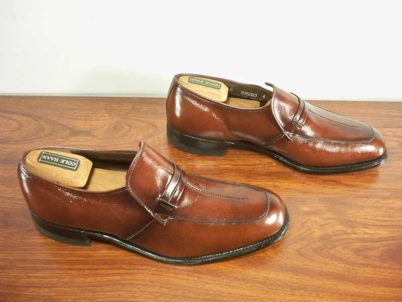 fddd0bb1cb870 Vintage Nunn Bush Brown Leather Men's Loafers Slip Ons Dress Shoes Made in  USA Size 9.5