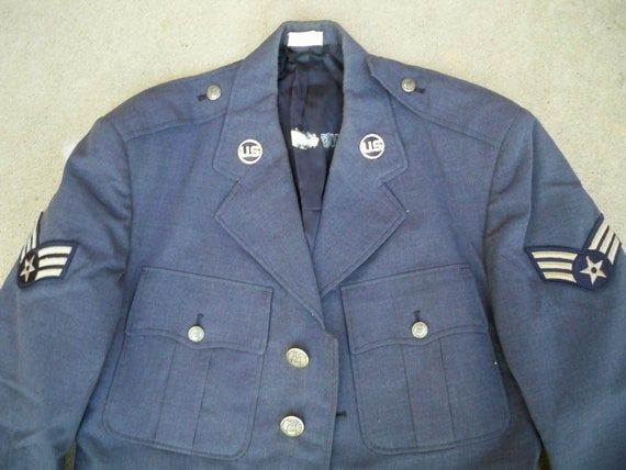 Force Wool Vietnam Blue Dated Era Air USAF Size Coat 1084 US 38 Uniform Regular Nam 1967 Vintage Men's 7xIwqtfOSI