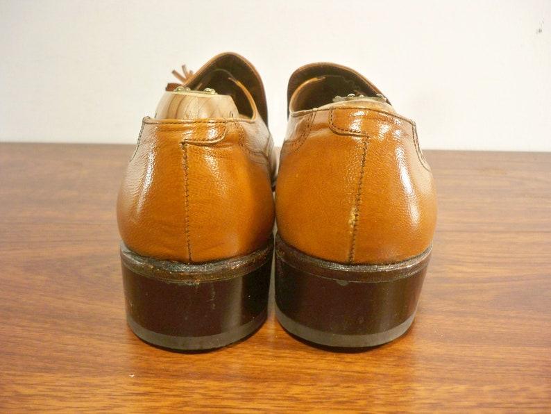 Vintage Florsheim TASSEL WINGTIPS Slip On Brown Leather Loafers Wing Tip Shoes Men/'s Size 7.5