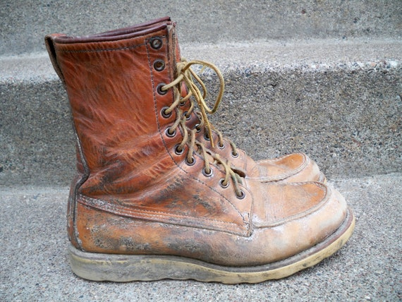 9 Boots Size Men's Soft Dog in Made Irish Wing Setter Red Vintage Work Tag 877 Toe USA Moc gTqSZwnf