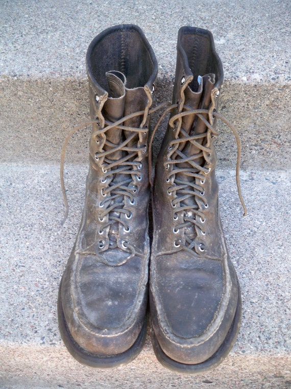 Russell Toe Up Soft C Shooter Bird Moccasin W 5 USA Size 11 Vintage Lace Work Hunting Made Boots in Men's qpx71ECvwn