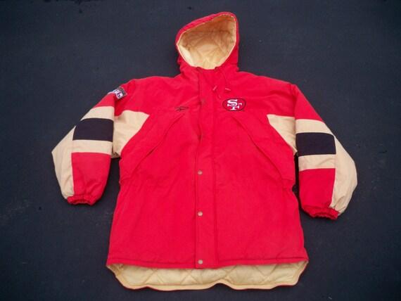 ebaca866 Vintage San Francisco 49ers NFL Reebok Football Men's Parka Jacket Coat  Size Large