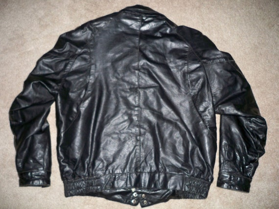 Men's Riding Coat Made Large Jacket Motorcycle Black Biker Leather Vintage USA in Cooper Size Bqxw4R
