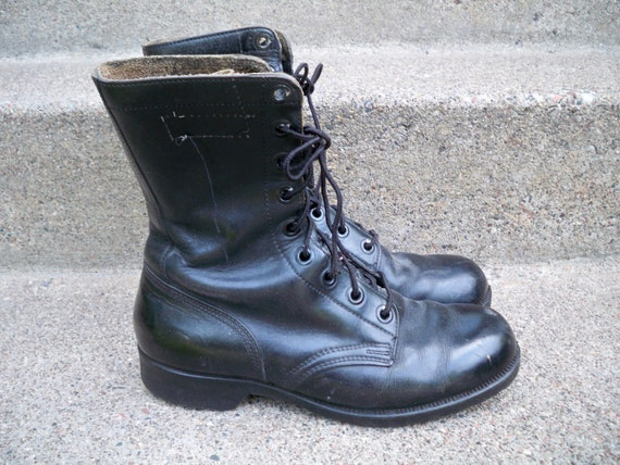 Military Dated Trench WAR Biker Soft Vietnam 7 in Toe Size Wide Boots Combat Vintage Soldier Riding Vintage 1973 Made USA Era NAM gnwqdXf88
