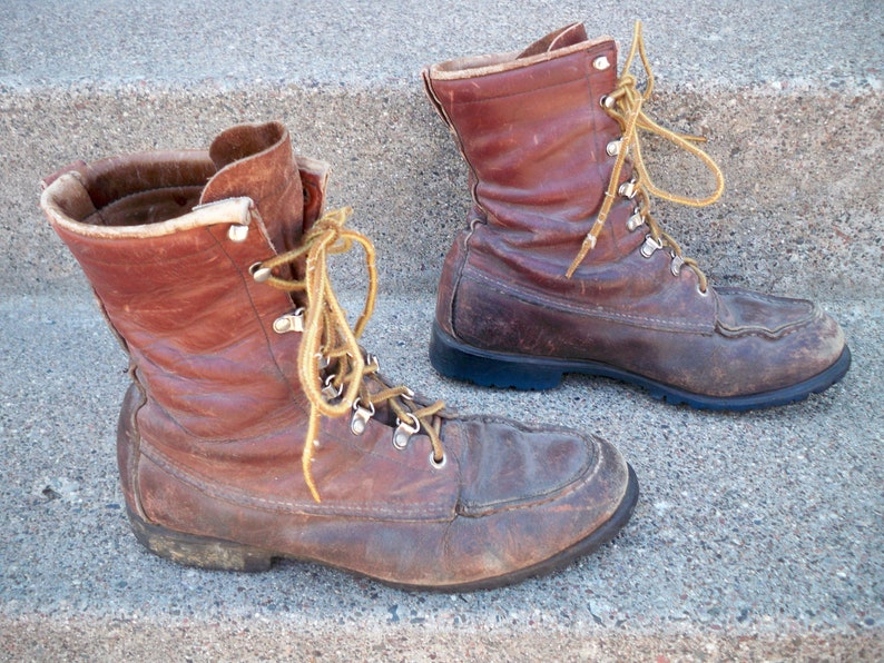 68a149b430c22 Vintage Red Wing Irish Setter Men's Hunting Work Motorcycle Leather Soft  Toe Boots Made in USA Size 8