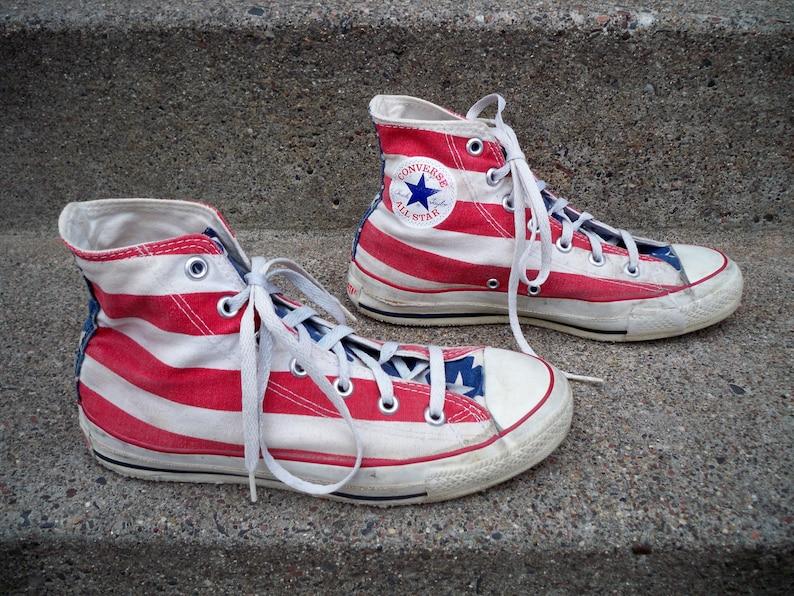 1e27438e770f RARE Vintage Converse All Star Shoes Men s Stars Stripes