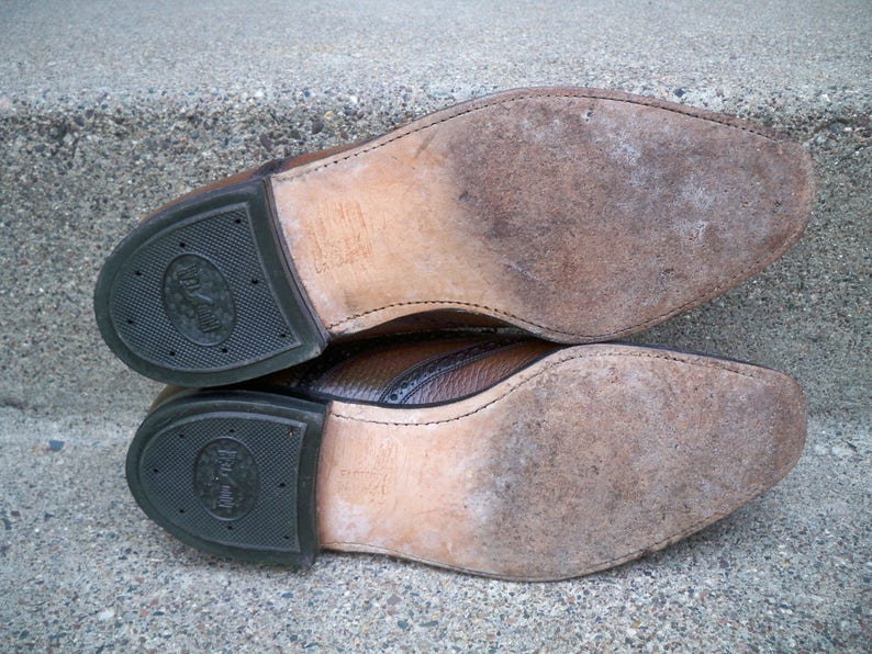 Vintage Freeman Shoes For Men Brown Leather Men/'s Wingtips Pimp Gangster Dress Shoes Loafers Size 8 Made in USA
