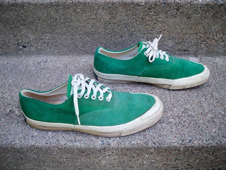 331934bc356e RARE Vintage CONVERSE Chucks Hunter Green Leather Low Top