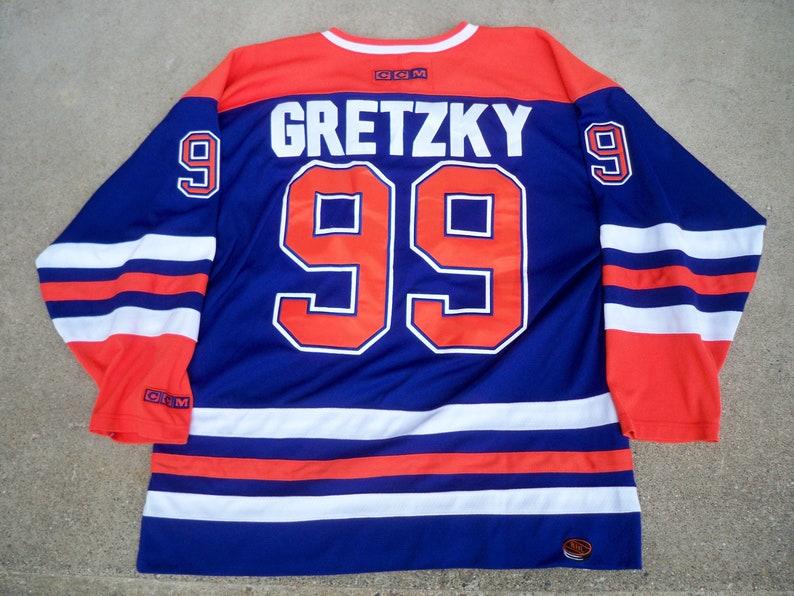 best cheap 1e93f 86aef Vintage Wayne Gretzky Edmonton Oilers NHL CCM Hockey Jersey Uniform Size XL  Made in Korea