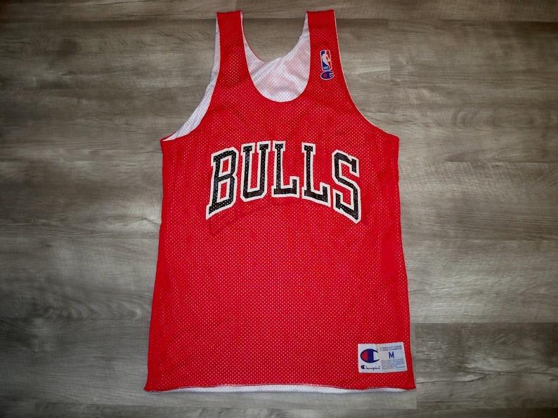 48982185e55a37 Vintage Champion Chicago Bulls Reversible Jordan Era NBA