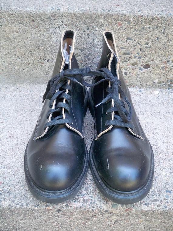 Toe du vintage Chukka cuir noir en Steel bottes Weinbrenner Vi AOfBBq
