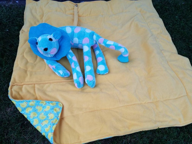 fabulous or bed prewashed for safety hospital Original gift for her polka dot lion  support in car Lion Neck Pillow Supersoft fleece