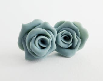 Flores button earrings