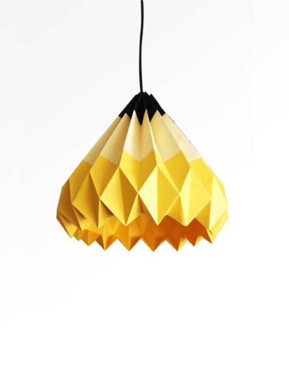 Pencil origami paper lamp shade yellow aloadofball Image collections