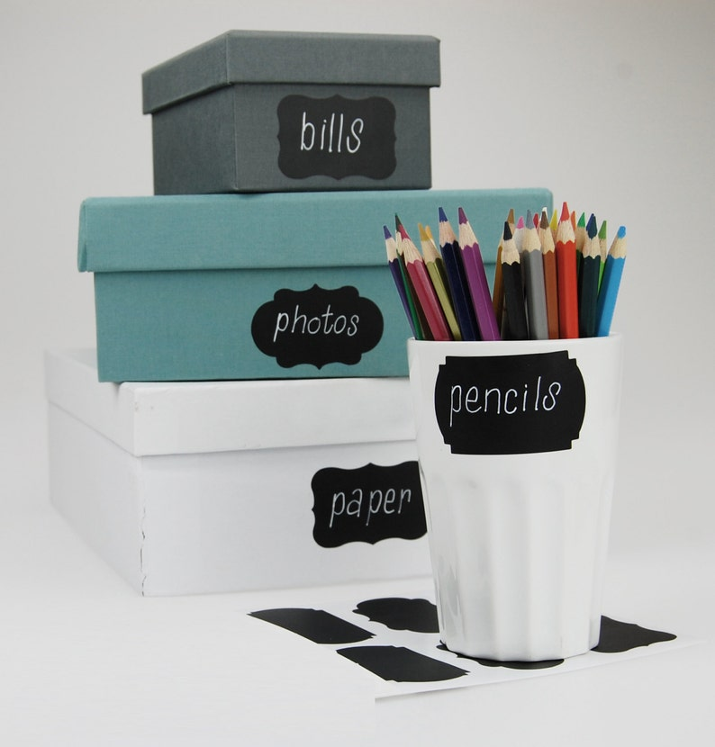 24 Chalkboard Labels Set of 24 Free Shipping by Shop Simply Perfect Chalkboard Decals