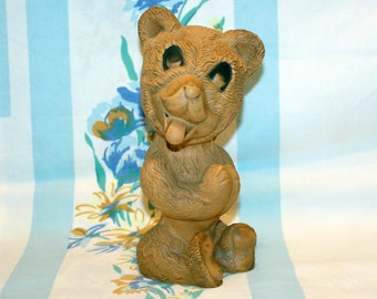 Bear Squeak toy, Kaysam Corporation, 1950s