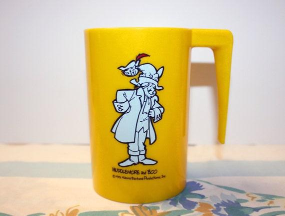 "1971 Muddlemore and Boo 4/"" Yellow Plastic Cup Mug Hanna Barbera Funky Phantom"