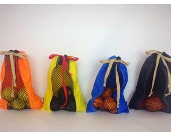 Produce Sack - Sport Nylon, Veggie Bag, Produce Sack, Fruit Bag, Drawstring Bag, Bag, Sack, Utility Bag