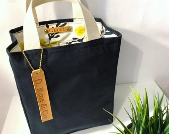CHARLIE Canvas Tote Bag/ Reusable Lunch Bag