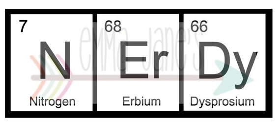 Nerdy periodic table svg digital download cut file etsy image 0 urtaz Images