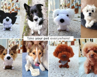 059 Crochet Pattern - Toy Terrier dog - PDF file Amigurumi by ... | 270x340
