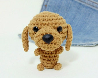 Amigurumi Dachshund, crochet dachshund. Dog stuffed toy. Crochet dog.