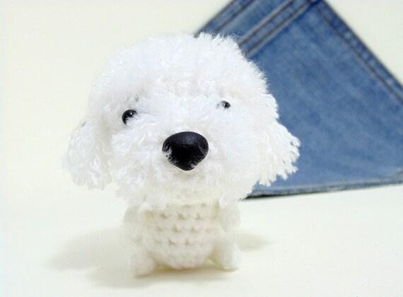 amigurumi bichon frise crochet dog cute bichon frise etsy