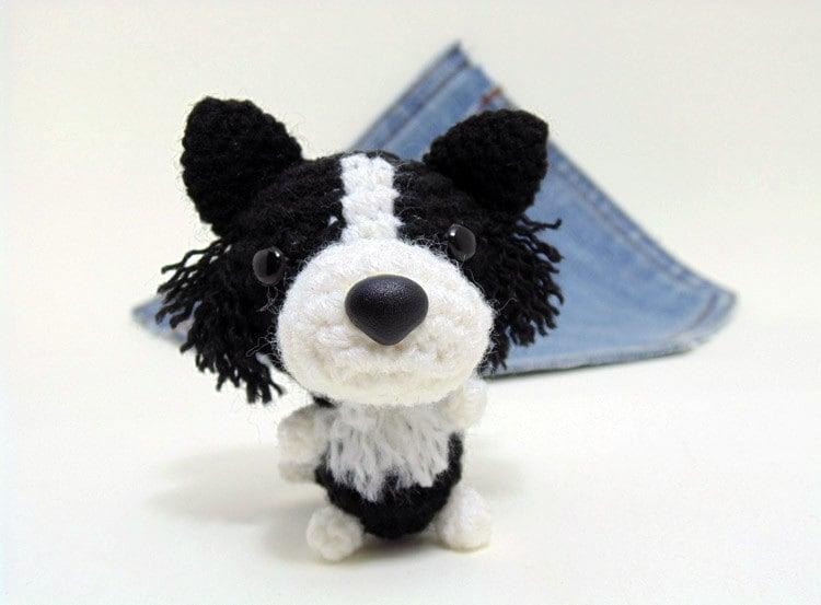 Amigurumi Miniature Border Collie Crochet Border Collie Cute Etsy