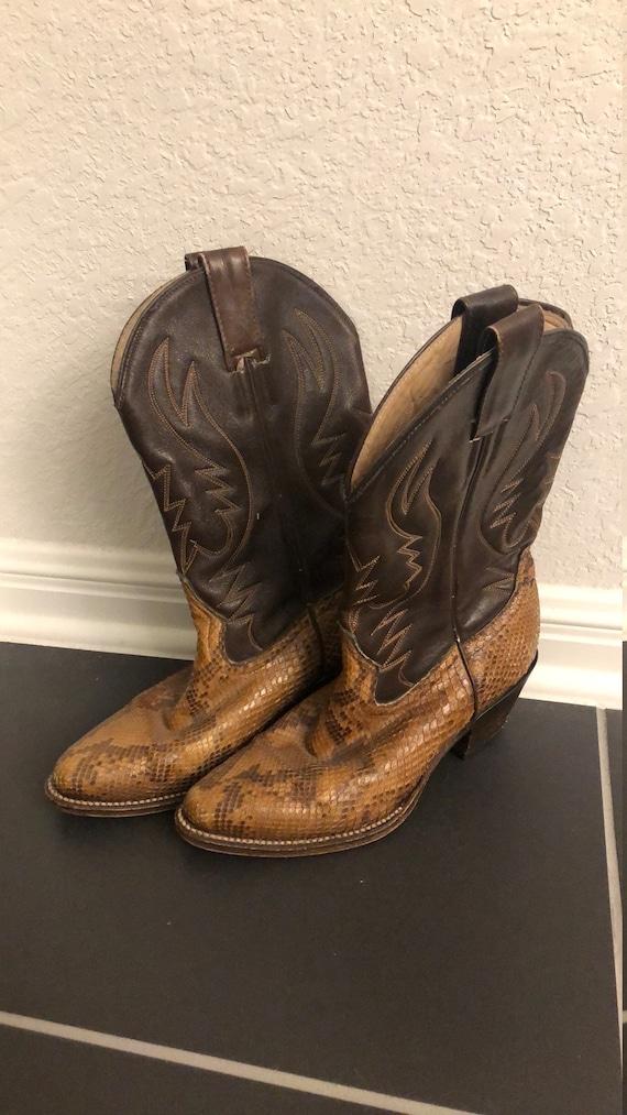 Vintage Women's Leather Cowboy Boots