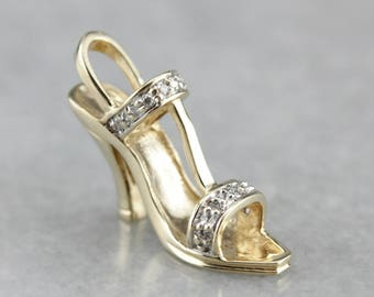 Diamond Stiletto, High Heel Pendant, Diamond Anniversary NFYRZ2YT-P