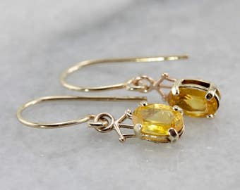 Petite Yellow Sapphire Drop Earrings P7NAC8-P