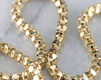 f5f38d9758f7 Vintage Gold Popcorn Chain
