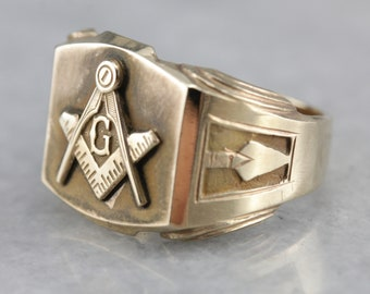Antique masonic ring | Etsy